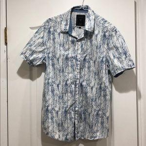 Slim Fit Sky Blue Button Down Shirt